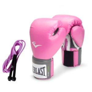 Γάντια προπόνησης Everlast prostyle Pink + δώρο σχοινάκι ταχύτητας