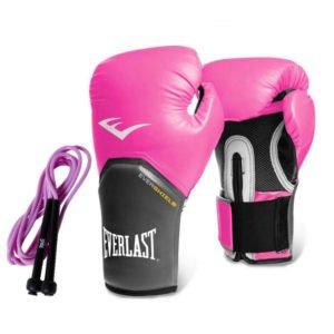 Γάντια προπόνησης Everlast elite pro style pink + δώρο σχοινάκι ταχύτητας
